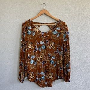 Paper moon floral long sleeve blouse